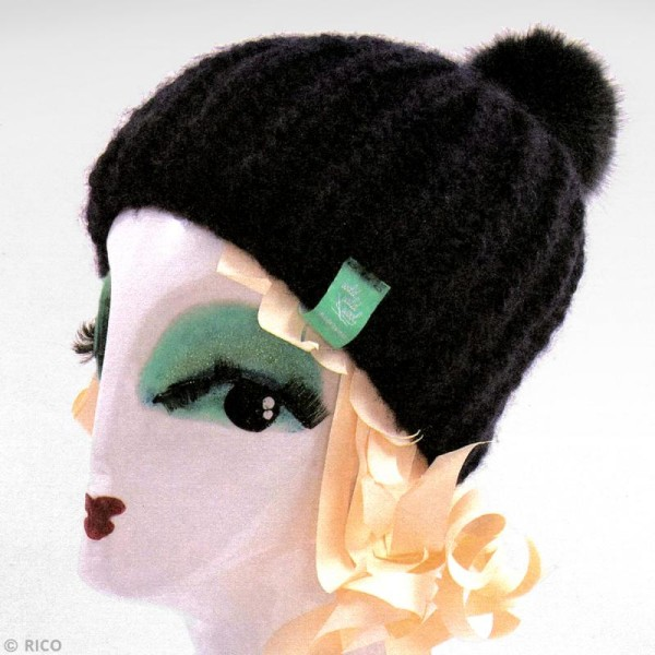 Kit Rico Design - Fashion super chunky - Bonnet à pompon jersey - Photo n°3