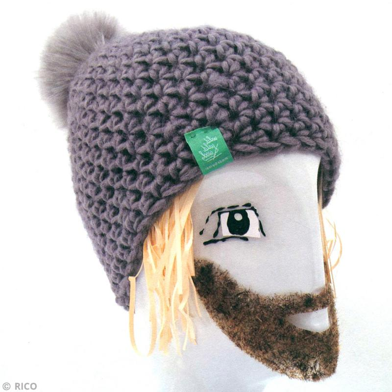 Kit Rico Design , Fashion super chunky , Bonnet à pompon au crochet , Photo  n