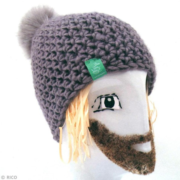 Kit Rico Design - Fashion super chunky - Bonnet à pompon au crochet - Photo n°2