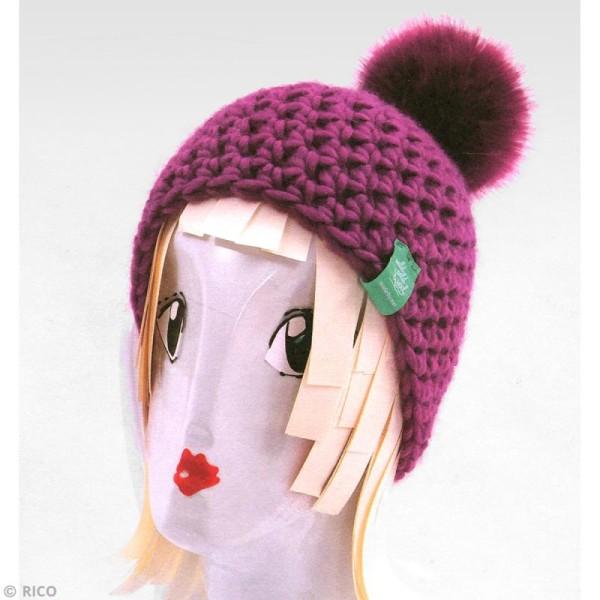 Kit Rico Design - Fashion super chunky - Bonnet à pompon au crochet - Photo n°3