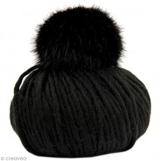 Kit Rico Design - Fashion super chunky - Bonnet à pompon au crochet - Noir