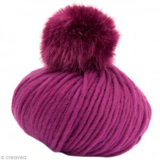 Kit Rico Design - Fashion super chunky - Bonnet à pompon au crochet - Fuchsia