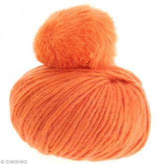 Kit Rico Design - Fashion super chunky - Bonnet à pompon au crochet - Orange