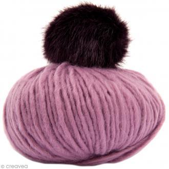Kit Rico Design - Fashion super chunky - Bonnet à pompon au crochet - Lilas
