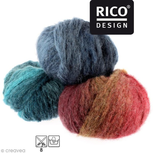 Laine Rico Design - Creative big moment - 200 gr - 12 coloris - Photo n°1