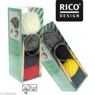 Kit Rico Design - Wild wild wool - Bonnet à motifs