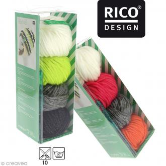 Kit Rico Design - Wild wild wool - Bonnet à rayures