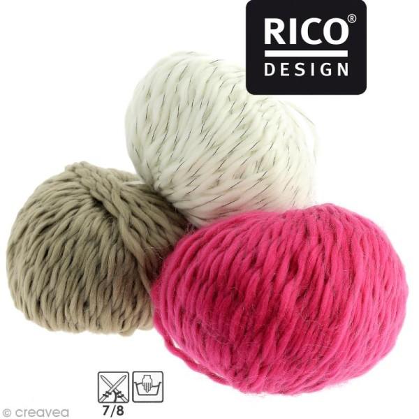 Laine Rico Design - Creative luciole réfléchissante - 100 gr - 8 coloris - Photo n°1