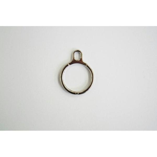 Fermeture maille brossée non-séparable argentée : (Maille fine 3.5mm) 5cm - Photo n°2