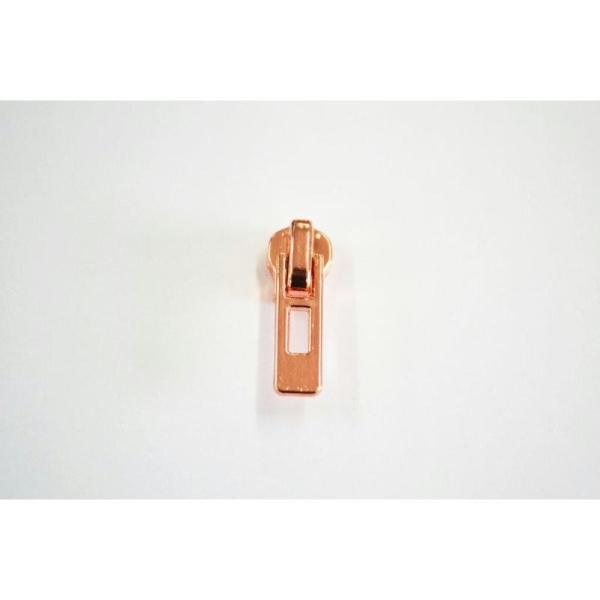 Fermeture maille brossée non-séparable cuivrée : (Maille fine 3.5mm) 5cm - Photo n°2