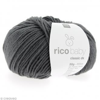 Laine Rico Design - Layette Baby classic dk - 50 gr - Gris anthracite