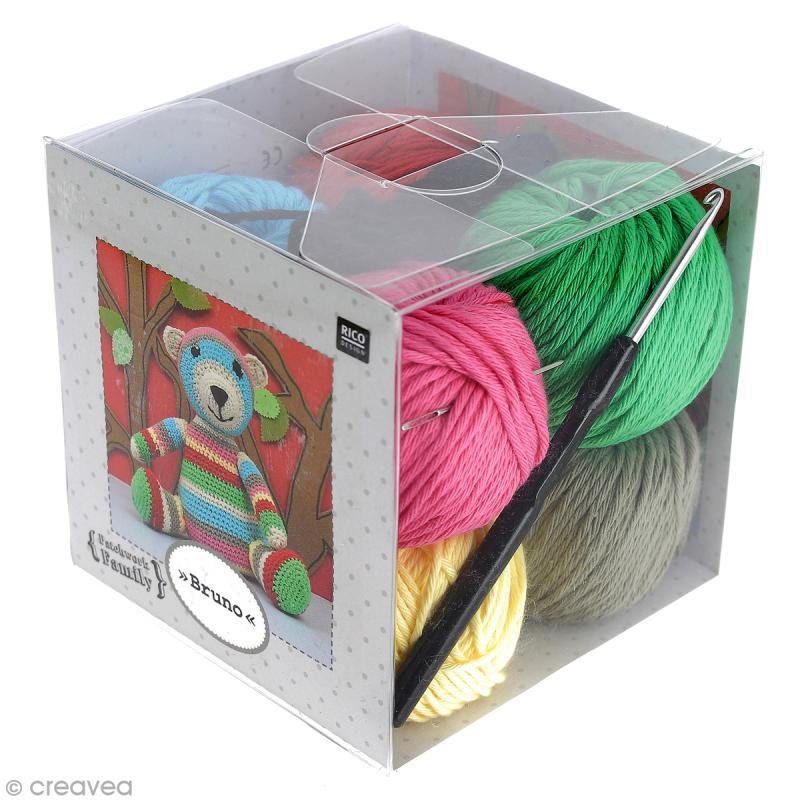 kit tricot peluche