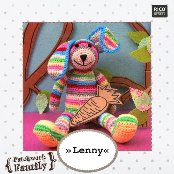 Kit crochet doudou - Patchwork family - Lenny le lapin - Photo n°2