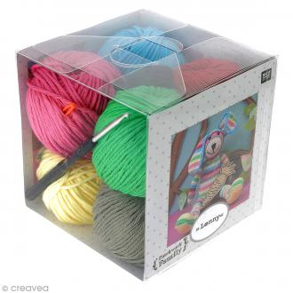 Kit crochet doudou - Patchwork family - Lenny le lapin