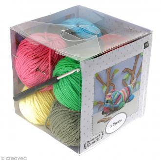 Kit crochet doudou - Patchwork family - Ted le chien
