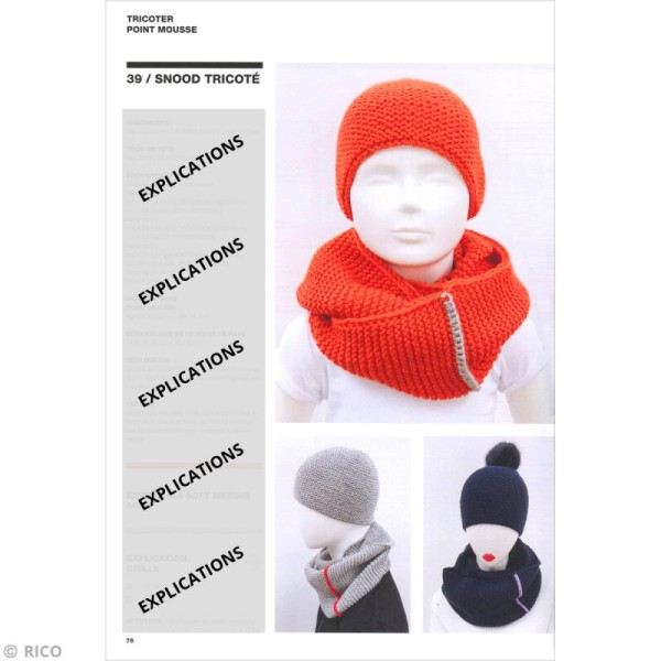 Livre Rico Design - SystemHATic - Snoods et bonnets - Photo n°3