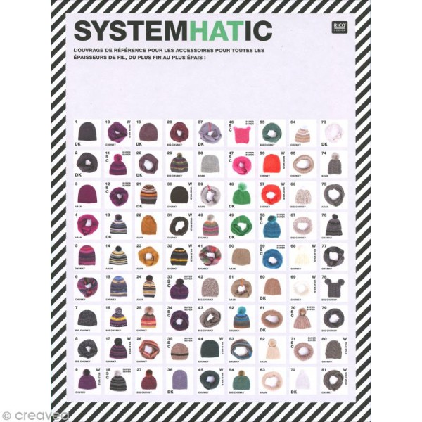 Livre Rico Design - SystemHATic - Snoods et bonnets - Photo n°1