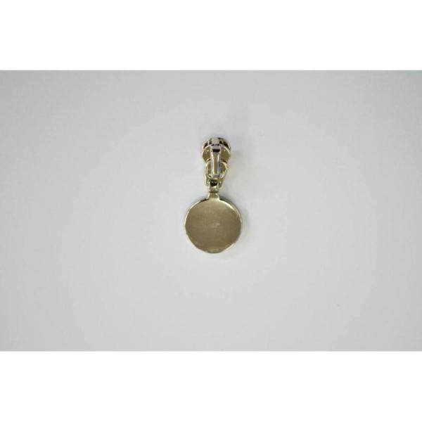 Fermeture maille brossée séparable argentée:(Maille fine 3.5mm) 10cm - Photo n°2