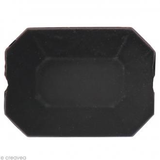 Pierre à coudre Rectangle Noir mat - 1,8 x 1,4 cm - 4 pcs