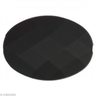 Pierre à coudre Ovale Noir mat - 2,4 x 1,8 cm - 3 pcs