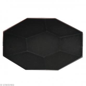 Pierre à coudre Rectangle Noir mat - 2,9 x 1,9 cm - 3 pcs