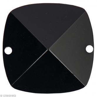 Pierre à coudre Carré Noir - 2,4 x 2,4 cm - 2 pcs