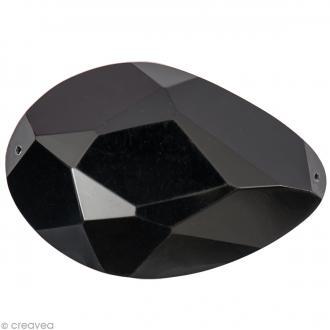 Pierre à coudre Goutte Noir - 5 x 3,4 cm - 1 pc