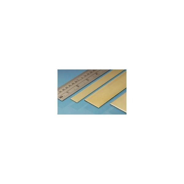Profilé laiton bande 25 mm x 0.4 mm, longueur 305 mm - Photo n°1