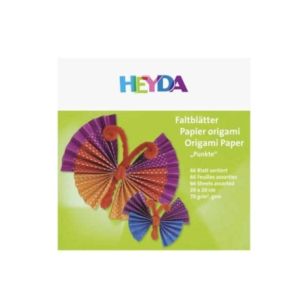 Papier pour origami - Pois - 200x200 - Photo n°1