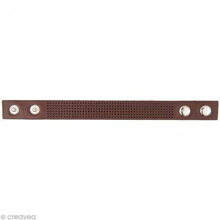 Bracelet à broder - Marron - 23 x 1,8 cm - Rico Design
