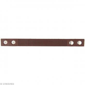Bracelet à broder - Marron - 23 x 1,8 cm