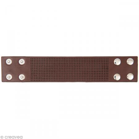 Bracelet à broder - Marron - 23,5 x 4,5 cm - Rico Design