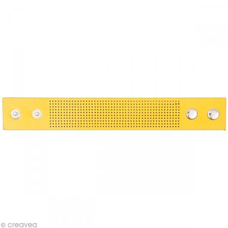 Bracelet à broder - Jaune - 23 x 3 cm - Rico Design