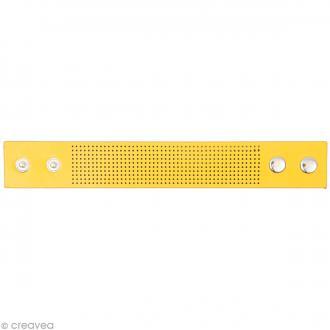 Bracelet à broder - Jaune - 23 x 3 cm