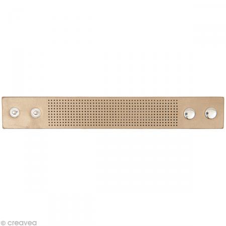 Bracelet à broder - Beige - 23 x 3 cm - Rico Design