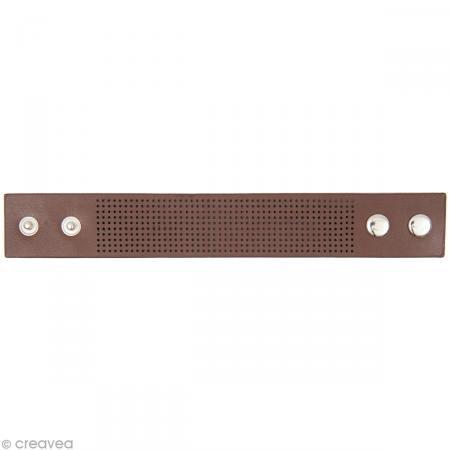 Bracelet à broder - Marron - 23 x 3 cm - Rico Design