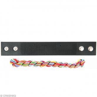 Kit bracelet à broder Noir - Chevron - 23 x 3 cm