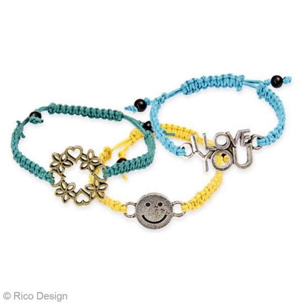 Kit bracelet macramé - Noir, rose & violet - 4 bracelets - Photo n°4
