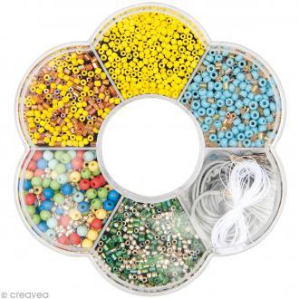 Kit collier perles de rocaille - Multicolore - 1 pc