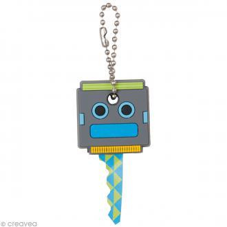 Couvre clé - Robot - Gris - 3 x 3,1 cm