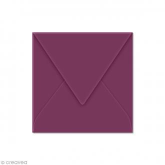 Enveloppe Pollen 120 x 120 mm - Violet cassis - 20 pcs