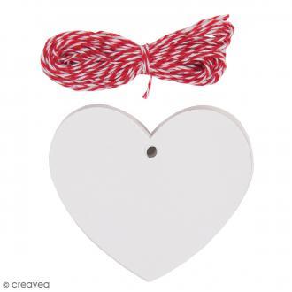 Kit étiquette cadeau - Coeur - Blanc - 20 pcs