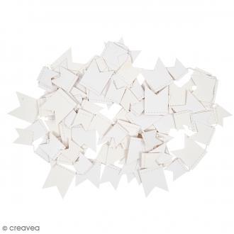 Guirlande Fanions - Blanc - 2,7 m