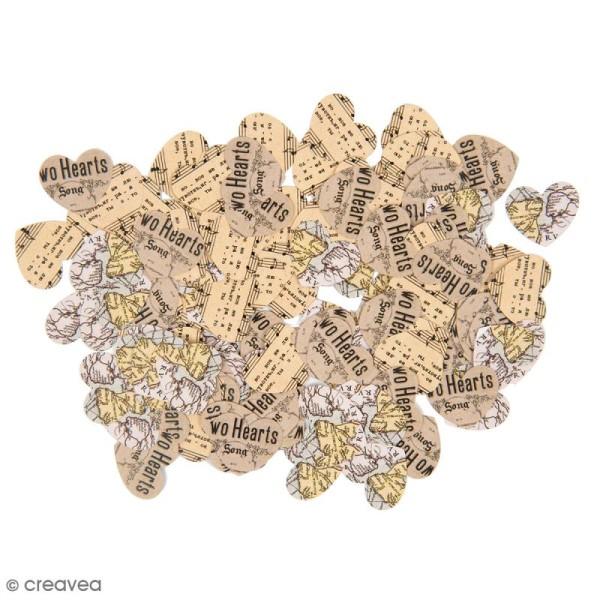 Confettis de table - Coeur - Musique - 150 pcs - Photo n°1