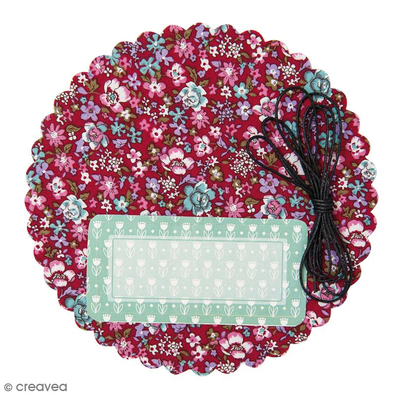kit d co pot de confiture coton fleuri 3 pcs coffret cuisine cr ative creavea. Black Bedroom Furniture Sets. Home Design Ideas