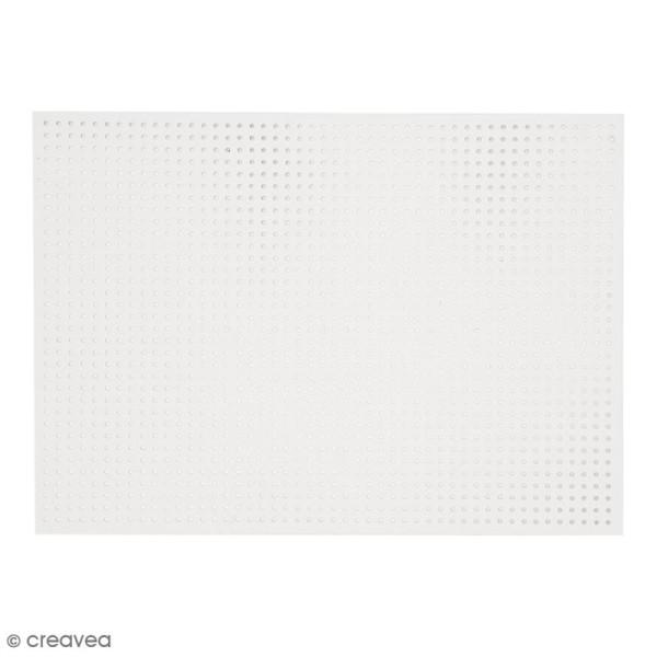 Carton à broder - Blanc - 17,5 x 24,5 cm - 10 pcs - Photo n°2