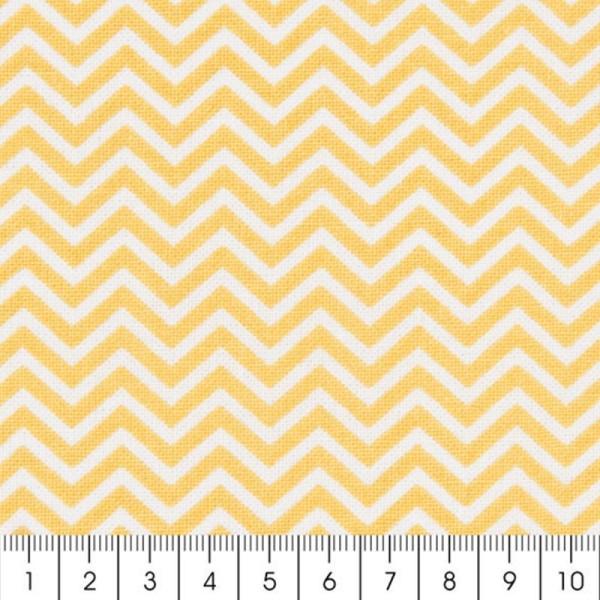 Tissu Rico Design - Chevrons - Jaune - A la coupe par 10 cm (sur mesure) - Photo n°2