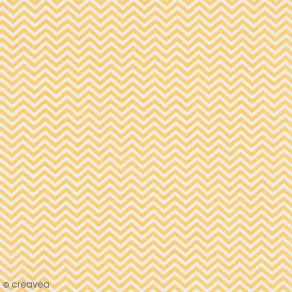 Tissu Rico Design - Chevrons - Jaune - A la coupe par 10 cm (sur mesure) - Photo n°1