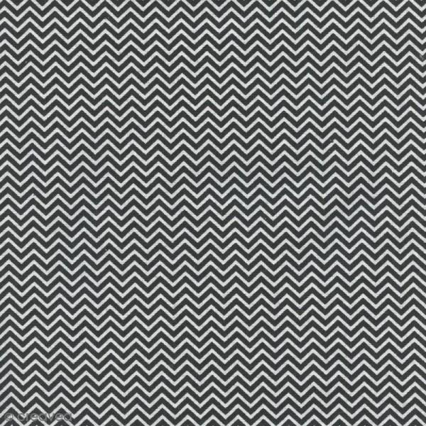 Tissu Zig Zag - Noir - Par 10 cm (sur mesure) - Photo n°1