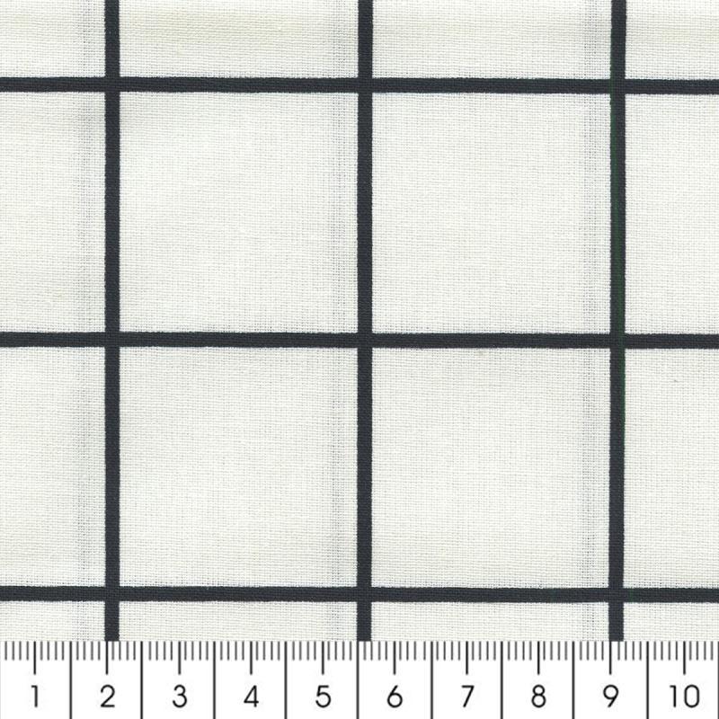 Tissu Carreaux - Noir - Par 10 cm (sur mesure) - Photo n°2